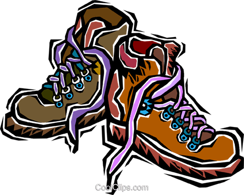 hiking boots royalty free vector clip art illustration vc006359 rh search coolclips com  hiking boot print clipart free
