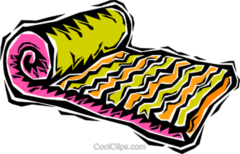 air mattress Royalty Free Vector Clip Art illustration vc006368