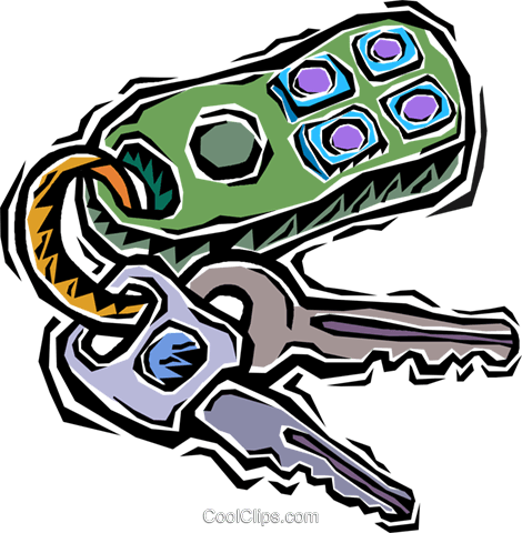 Car Keys Royalty Free Vector Clip Art Illustration Vc006371