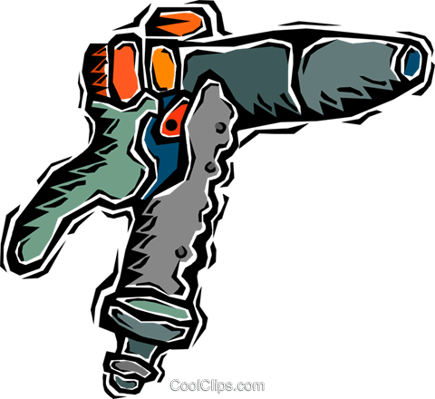 drill, compressed air Royalty Free Vector Clip Art illustration vc006383