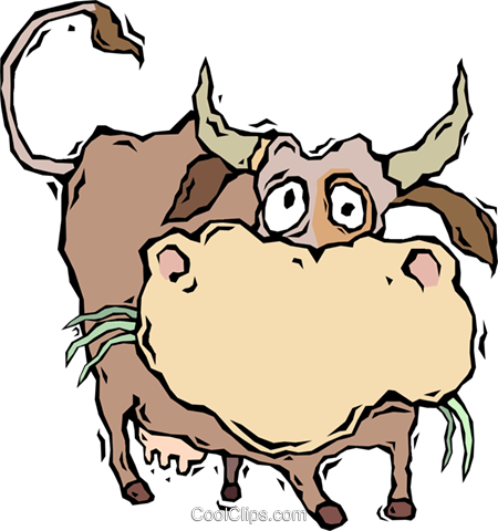 cow Royalty Free Vector Clip Art illustration vc006434