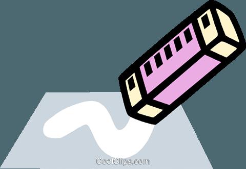 eraser, stationary Royalty Free Vector Clip Art illustration ...