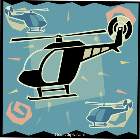 helicopter in modern frame design Royalty Free Vector Clip Art illustration vc006515