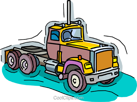 truck, transport truck Royalty Free Vector Clip Art illustration vc006523