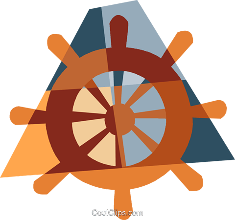 helmsman's wheel Royalty Free Vector Clip Art illustration vc006538