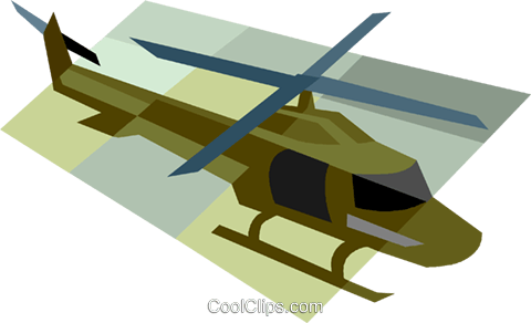 military helicopter Royalty Free Vector Clip Art illustration vc006543