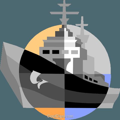 军舰 免版税矢量剪贴画插图