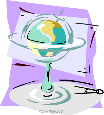 globe Royalty Free Vector Clip Art illustration vc006592