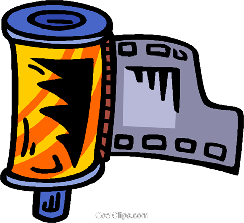 film canister Royalty Free Vector Clip Art illustration vc006632