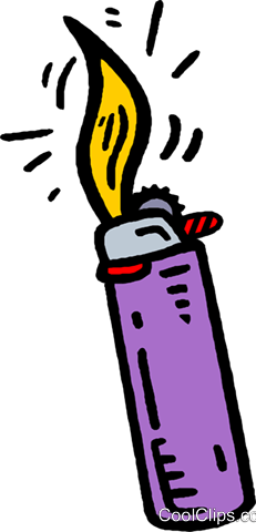 cigarette lighter Royalty Free Vector Clip Art illustration vc006642