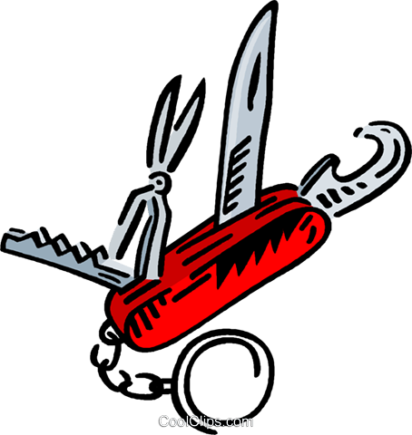 Swiss Army Knife Royalty Free Vector Clip Art Illustration