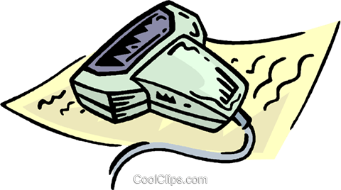hand scanner Royalty Free Vector Clip Art illustration vc006645