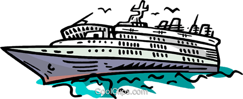 cruise ship Royalty Free Vector Clip Art illustration vc006650