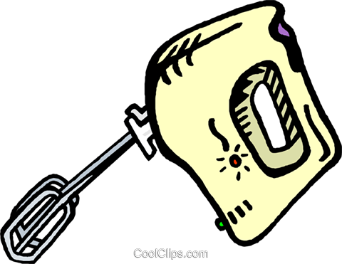 electric mixer Royalty Free Vector Clip Art illustration vc006664