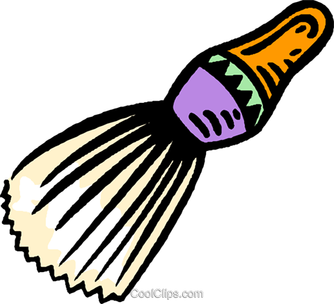 shaving brush Royalty Free Vector Clip Art illustration vc006674