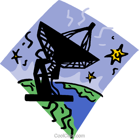 Satellite dish Royalty Free Vector Clip Art illustration vc006691