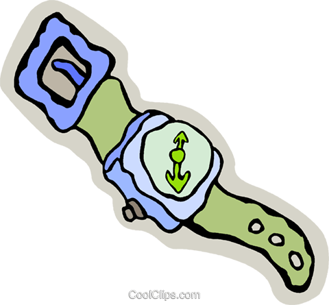 wrist watch Royalty Free Vector Clip Art illustration vc006708