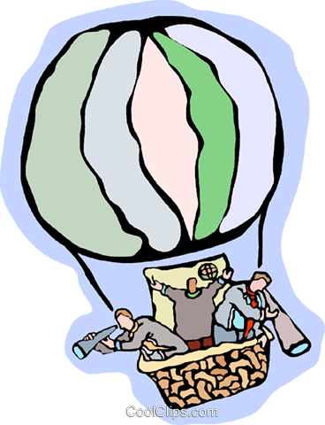 hot air balloon Royalty Free Vector Clip Art illustration vc006720