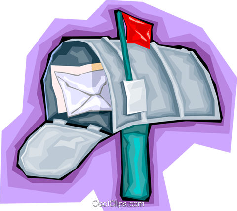 mailbox, letters. post office Royalty Free Vector Clip Art illustration vc006740