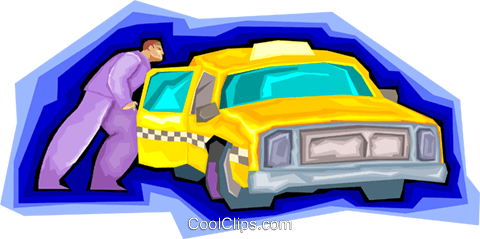 taxicab Royalty Free Vector Clip Art illustration vc006756