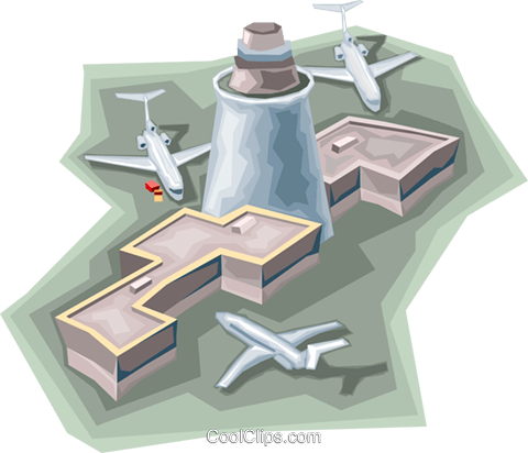 Airport terminal Royalty Free Vector Clip Art illustration vc006760
