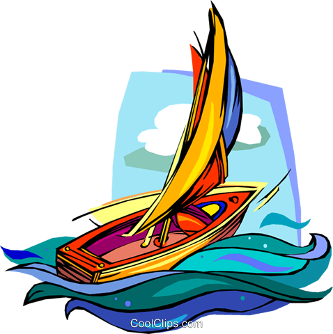 Sailboat, ship Royalty Free Vector Clip Art illustration vc006770