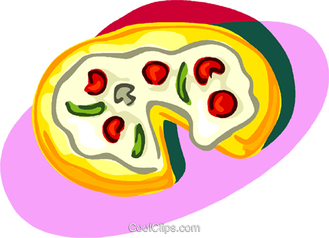 pizza Royalty Free Vector Clip Art illustration vc006780