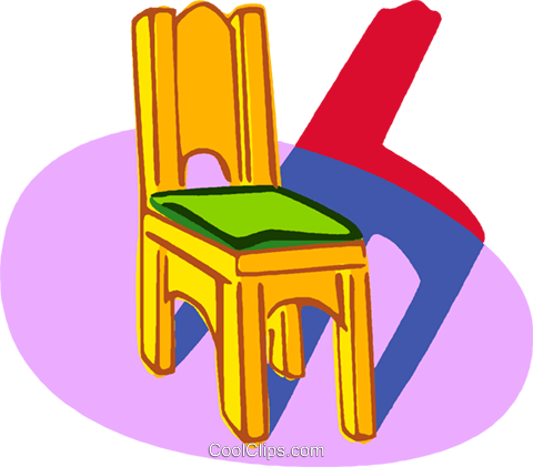 chair Royalty Free Vector Clip Art illustration vc006798