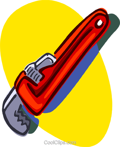 monkey wrench Royalty Free Vector Clip Art illustration vc006820