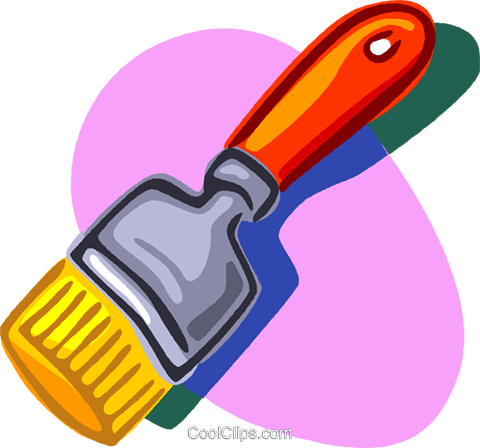 paintbrush Royalty Free Vector Clip Art illustration vc006822