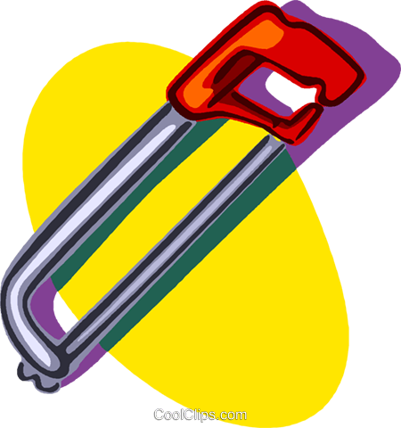 hacksaw Royalty Free Vector Clip Art illustration vc006829