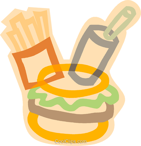 decorative symbol, fast food Royalty Free Vector Clip Art illustration vc006886
