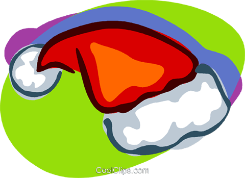 Santa's hat, clothing Royalty Free Vector Clip Art illustration vc006919