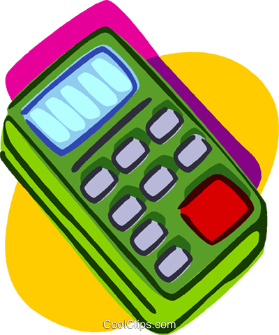 calculator, office stationary Royalty Free Vector Clip Art illustration vc006921