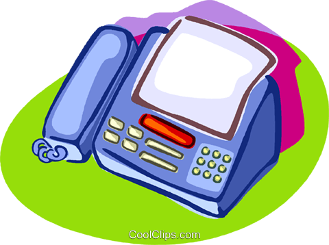 fax machine Royalty Free Vector Clip Art illustration vc006930