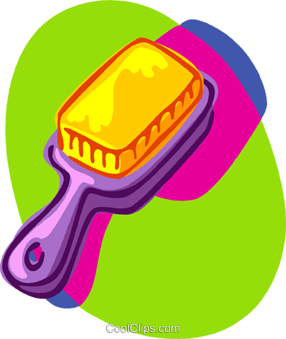 brush comb Royalty Free Vector Clip Art illustration vc006931