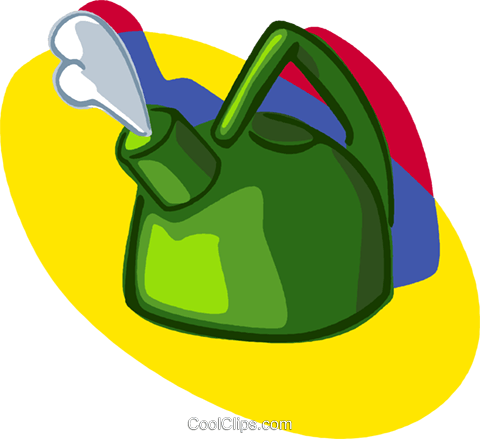 kettle, kitchen Royalty Free Vector Clip Art illustration vc006956