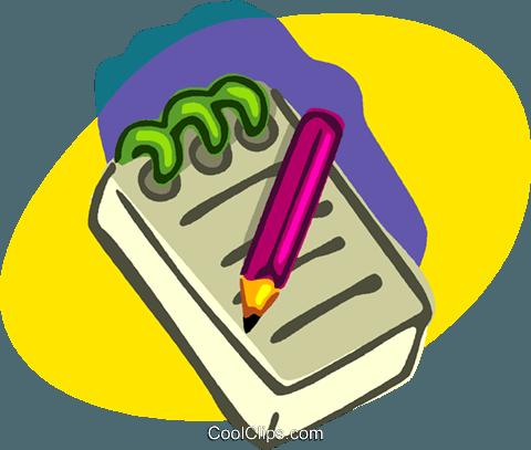 Büromaterial clipart  Notizblock, Bleistift, Büromaterial Vektor Clipart Bild -vc006960 ...