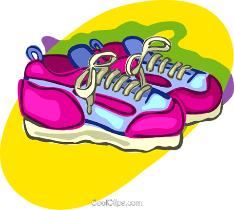 running shoes, clothing Royalty Free Vector Clip Art illustration vc006962