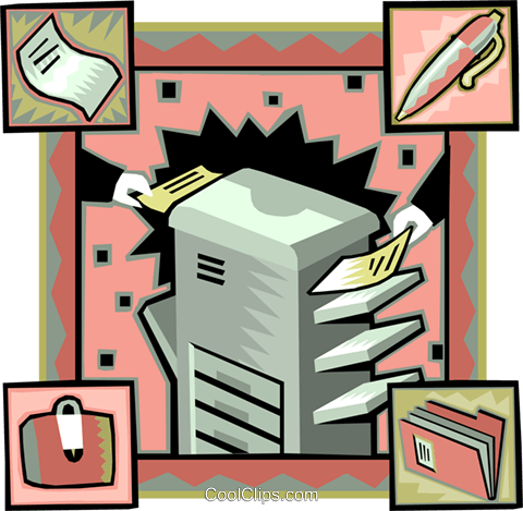 business photocopier Royalty Free Vector Clip Art illustration vc007033