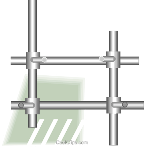 tubular frame Royalty Free Vector Clip Art illustration vc007049