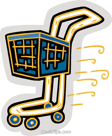 shopping cart Royalty Free Vector Clip Art illustration vc007152