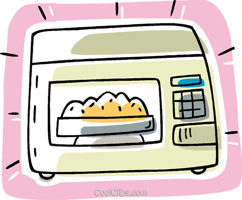 microwave oven, kitchen Royalty Free Vector Clip Art illustration vc007162