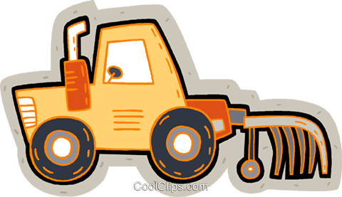 farm tractor Royalty Free Vector Clip Art illustration vc007176