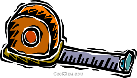 measuring tape Royalty Free Vector Clip Art illustration vc007211