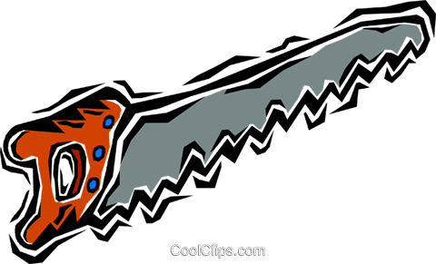 hand saw Royalty Free Vector Clip Art illustration vc007219