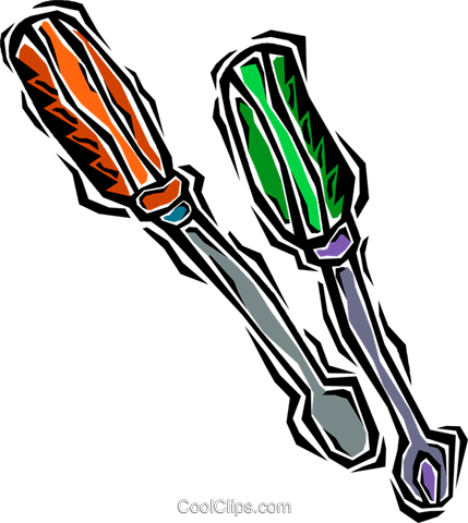 screw drivers Royalty Free Vector Clip Art illustration vc007225