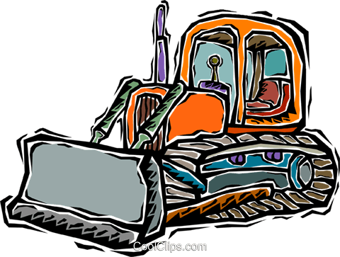 bulldozer Royalty Free Vector Clip Art illustration vc007235