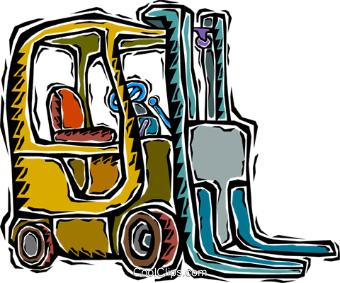 forklift Royalty Free Vector Clip Art illustration vc007237