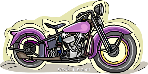 Vintage motorcycle Royalty Free Vector Clip Art illustration vc007345